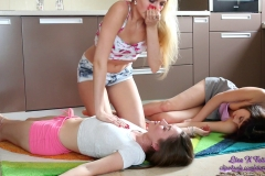 Liza K - Gas accident 3 chicks totally limp (17)