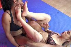 DEFEATED Stella vs Janelle Forced to kiss stinky feet (11)