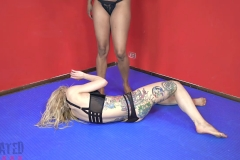 DEFATED Total Beatdown – Stella gets destroyed and forced to lick feet - Stella Vs Janelle (20)